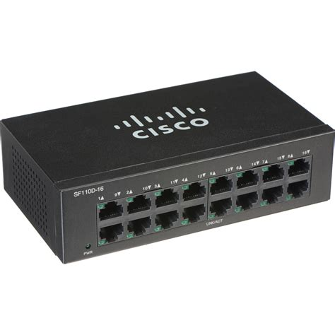 Switch Cisco Unmanaged cisco sf110d 110 series 16 port unmanaged network sf110d 16 na