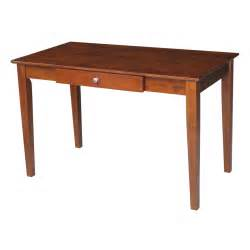 international concepts espresso office desk with drawer