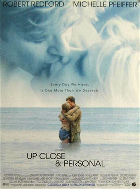 film up close and personal up close personal robert redford 1996 vintage movie ad
