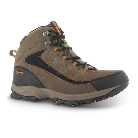 mens hi tec boots s hi tec 174 utah ii mid waterproof hiking boots brown