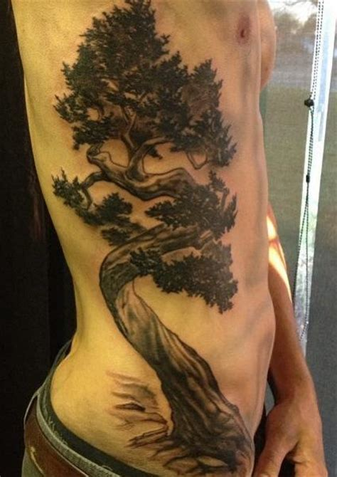 tree side tattoo realistic side tree by blood sweat tears