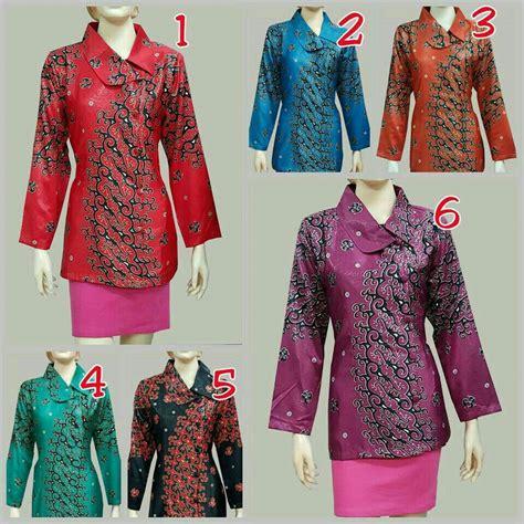 Blus Batik Atasan Batik jual blus batik wanita modern baju batik atasan semi