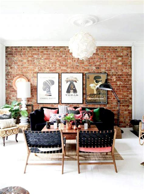 The Brick Living Room by How To Decorate Your Home With Pink And Still Keep Your