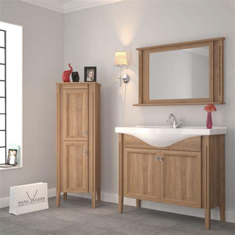 Oak Bathroom Furniture Uk 1050 Traditional Solid Oak Bathroom Vanity Buy At Bathroom City