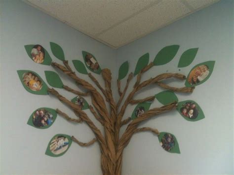 how to make brown tree family tree for classroom roll brown butcher paper or