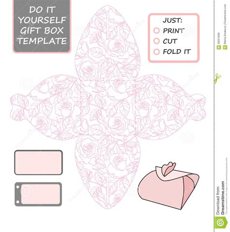 wedding favor box template favor gift box die cut box template with pattern