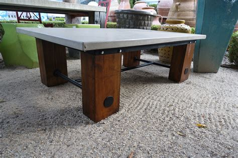 Metal Kitchen Furniture concrete and reclaimed wood coffee table mecox gardens
