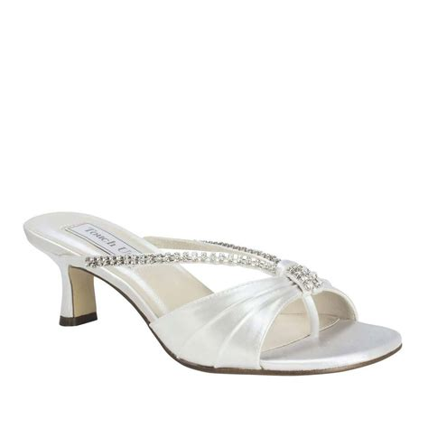 s sandals for wedding wide width bridal wedding white satin low heel