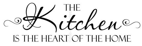 kitchen is the heart of the home muursticker the kitchen is the heart of the home 1