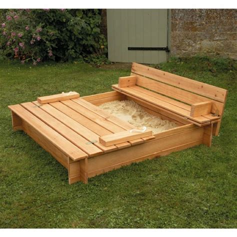 folding bench sandbox covered sandbox w benches that fold up fun with baby l