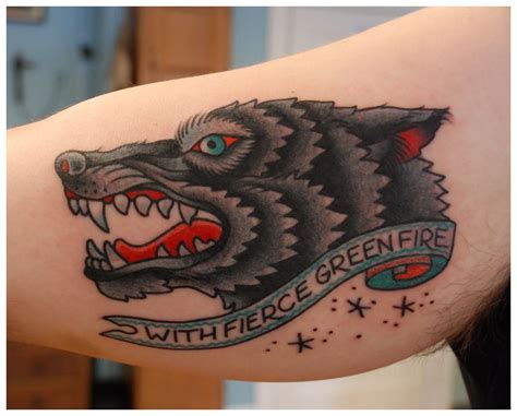 american traditional wolf tattoos my by jason walstrom of sea wolf in