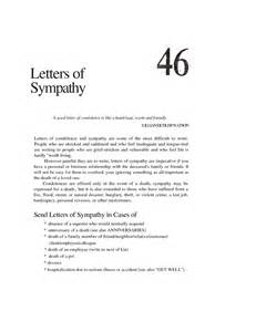 effective letter sle for saying sympathy and condolence