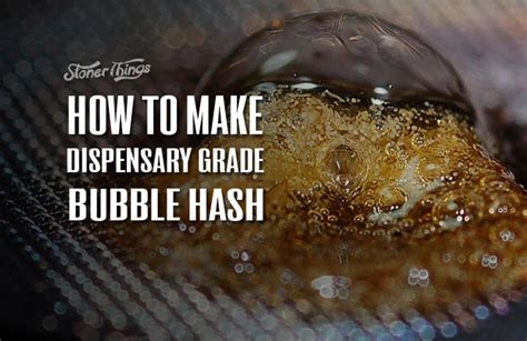 how to make dispensary grade bubble hash infographic