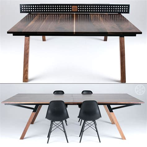 Ping Pong Dining Room Table by The Woolsey Walnut Wood Ping Pong Table Dining Table