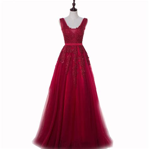 Imported Slimca Dress 3 2017 modest burgundy prom dresses tulle evening gowns formal imported dress on luulla