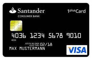 santander bank siegburg santander bietet 1plus visa card mit kostenlosem girokonto