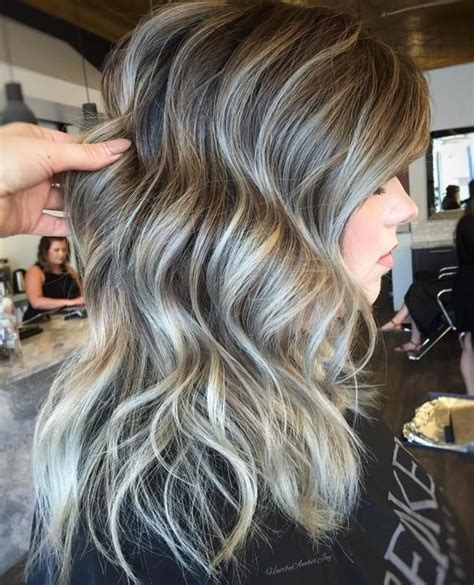 how to blend gray hair with highlights 351 best images about hair on pinterest medium layered