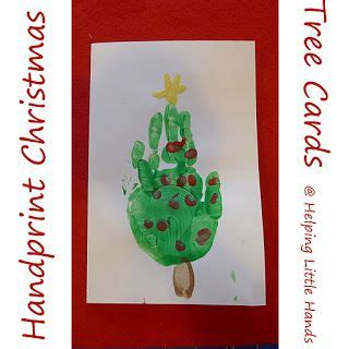 handprint christmas tree cards playgroup pinterest