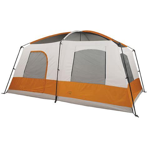 10x12x5ft magnum wall tent and angle kits alps cedar ridge rimrock two room tent rust clay