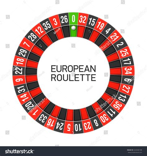 roulette layout vector european roulette wheel vector stock vector 324446198