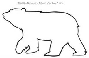 Brown bear template preschool polar bear pattern one polar