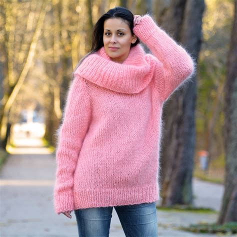 light pink cowl neck sweater light pink knitted cowlneck