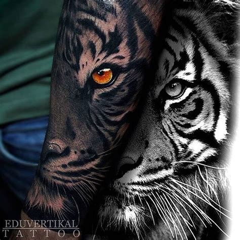eye of the tiger tattoo designs tiger eye on arm sleeve by eduvertikal