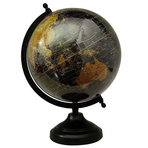 Globe Decor Big Rotating Desktop Globe World Earth Black Table