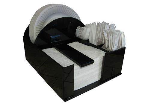 paper plate dispenser BBQ Picnic storage holder party