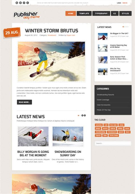 templates blogger css3 5 responsive joomla templates that designed with html5 css3