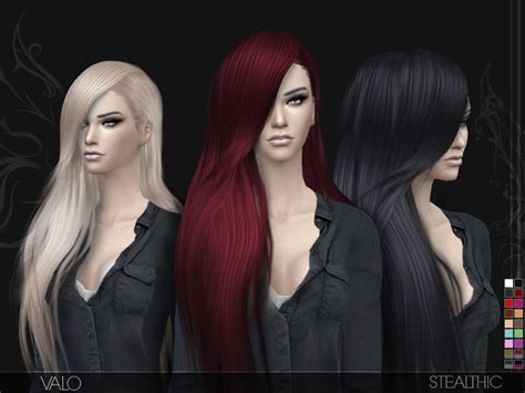 the sims resource stealthic captivated hair sims 4 stealthic valo female hair