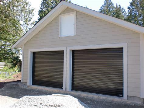 Black Double Garage Doors Smart Garage Doors
