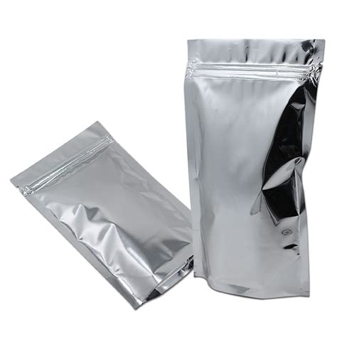 Standing Pouch Alufoil Silver 500 Zipper buy wholesale coffee pouches from china coffee pouches wholesalers aliexpress