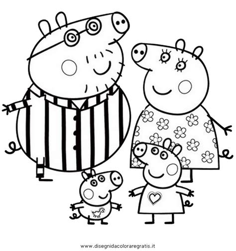 free coloring pages of peppa pig