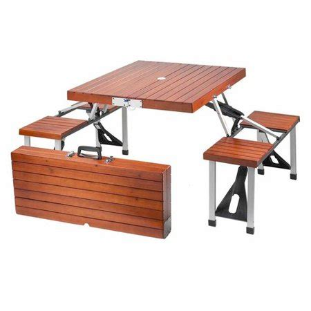 2 folding picnic table leisure season portable folding picnic table medium brown