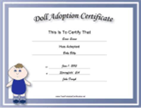 Adoption Certificates   Free Printable Certificates