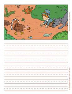 Thanksgiving Paper Template by Printable Thanksgiving Writing Paper Templates