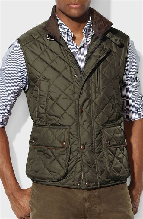 Polo Quilted Vest by Polo Ralph Epson Quilted Vest In Green For