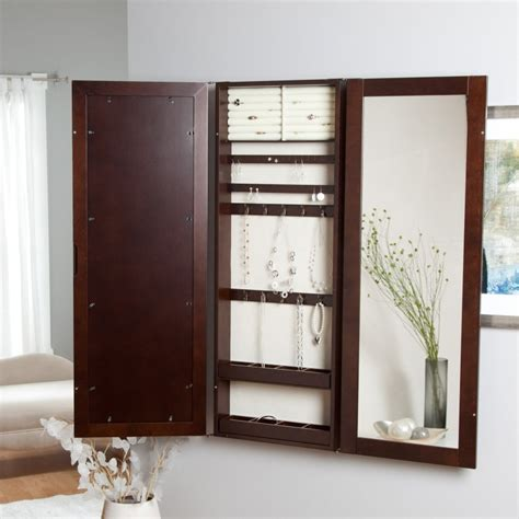 hanging jewelry armoire mirror hanging jewelry armoire homesfeed