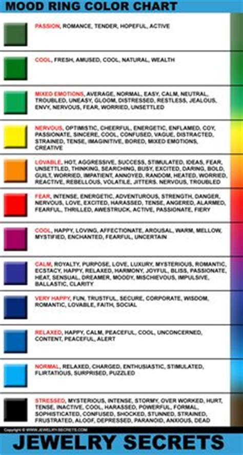 mood color chart crochet tips pinterest mood colors mood ring color meanings mood ring colors and meanings