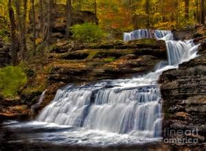 George Duvet Cover Waterfalls In The Fall Photograph By Susan Candelario