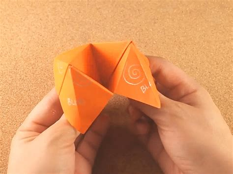 Make The Paper - how to make a cootie catcher origami fortune teller 10