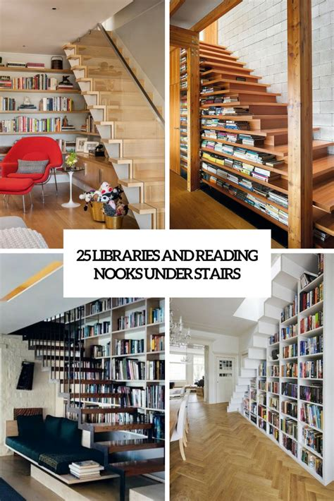 under stairs library design 25 libraries and reading nooks stairs digsdigs