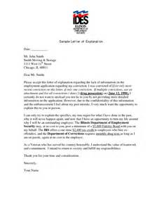 letter of explanation sle writing professional letters
