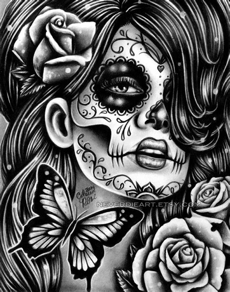 day of the dead art coloring pages misscarissarose miss carissa rose deviantart