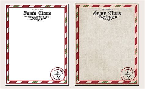 Official Letterhead From The Pole Letter From Santa Printable