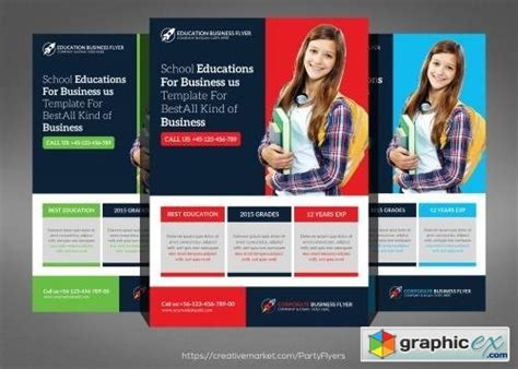 free education flyer templates school education flyer template 561443 187 free vector stock image photoshop icon
