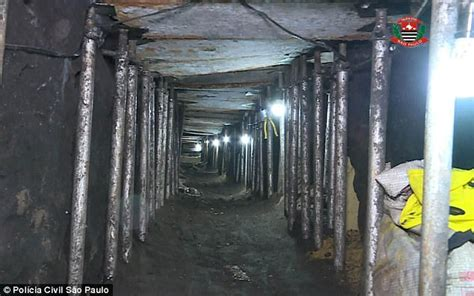 tunnel bank robbery brazil spent months digging into bank to 163 240m