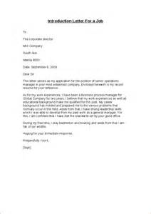 How To Write A Cover Letter Introduction how to write a letter of introduction for cover