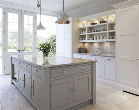 gray base cabinets with white countertops the psychology of why gray kitchen cabinets are so popular